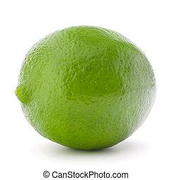 Citrus lime fruit isolated on white background cutout
