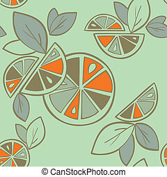 citrus, modèle, seamless