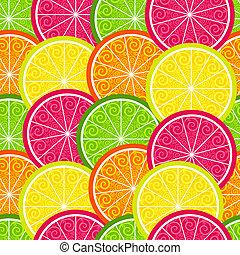 citrus, modèle, seamless, coloré