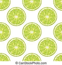 citrus, modèle, seamless, vecteur, fond, slice., chaux