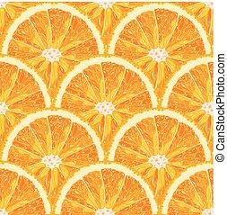 citrus, modèle, seamless, vecteur, orange, slice.