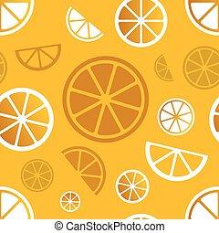 citrus, modèle, vecteur, seamless