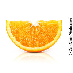 citrus orange fruit isolated on white