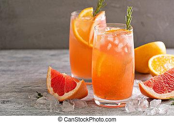 citrus, orange, pamplemousse, cocktail