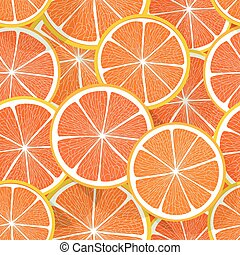 citrus, orange, vecteur, pattern., seamless