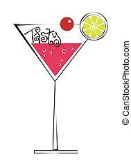 citrus, savoureux, cocktail