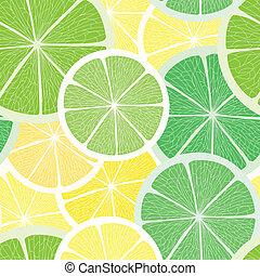 citrus, seamless, achtergrond
