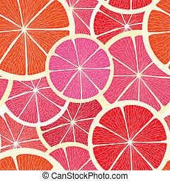 Grapefruit seamless background
