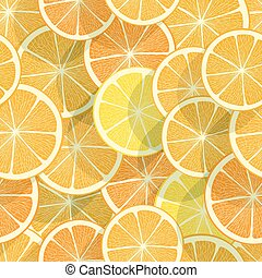 Citrus seamless background. Orange