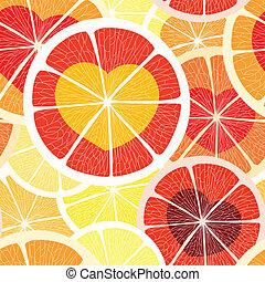 citrus, seamless, fond