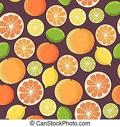 citrus, seamless