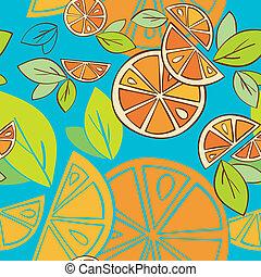 citrus seamless pattern