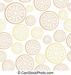 citrus seamless pattern on a white background.