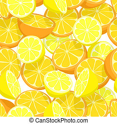 Citrus seamless tile - Seamless tile of lemons and oranges