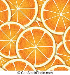 citrus, segmenten, seamless, achtergrond