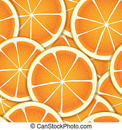 citrus, segments, seamless, fond