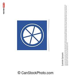 Citrus Slice Icon - Blue photo Frame