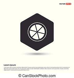 Citrus Slice Icon Hexa White Background icon template - Free...