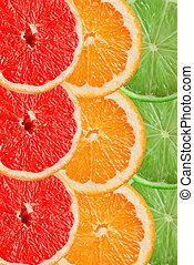 citrus slices background