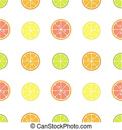 Citrus slices pattern