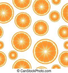 Citrus slices seamless pattern background