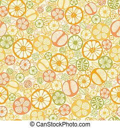 Citrus slices seamless pattern background - Vector citrus...