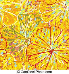 Citrus texture seamless pattern handdrawn