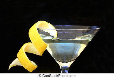 Citrus Twist - Cocktail with twist of lemon peel