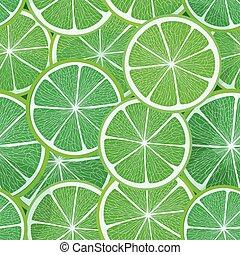 citrus, vecteur, pattern., seamless, chaux