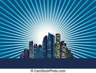 città, a, alba