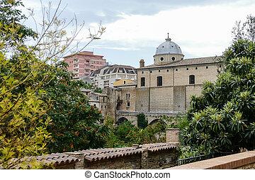 città, abruzzo, panorama, medievale, lanciano, italia