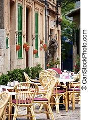 città, aria aperta, strada, ristorante