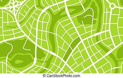 città, astratto, mappa, banner.