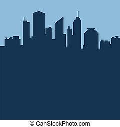 città, astratto, vettore, illustrazione, fondo.