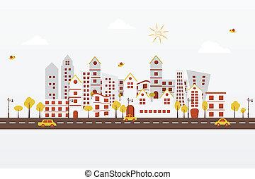 città, carta