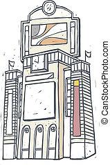 città, centro commerciale, shopping