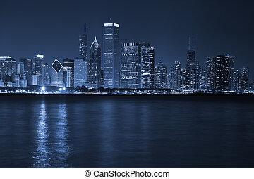 città, chicago.