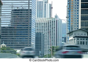 città, costruzioni, grattacieli, urbano, miami, centro