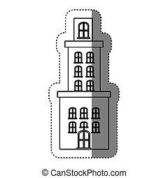 città, costruzioni, immagine, icona