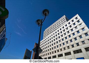 città, costruzioni, moderno, centro, berlino, germania