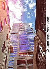 città, costruzioni, moderno