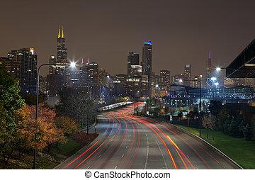 città, di, chicago