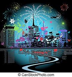 città, firework