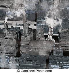 città, futuro, industriale