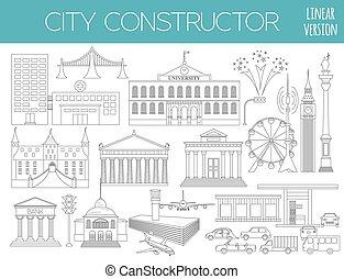 città, grande, mappa, creatore