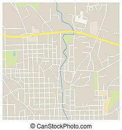 città, illustrazione, mappa