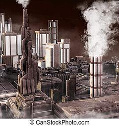 città, industriale, futuro