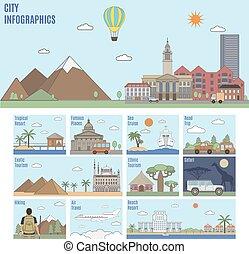 città, infographics., turismo