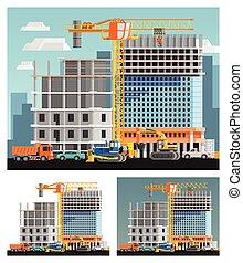 città, insieme costruzione, compositions