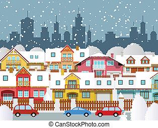 città, inverno